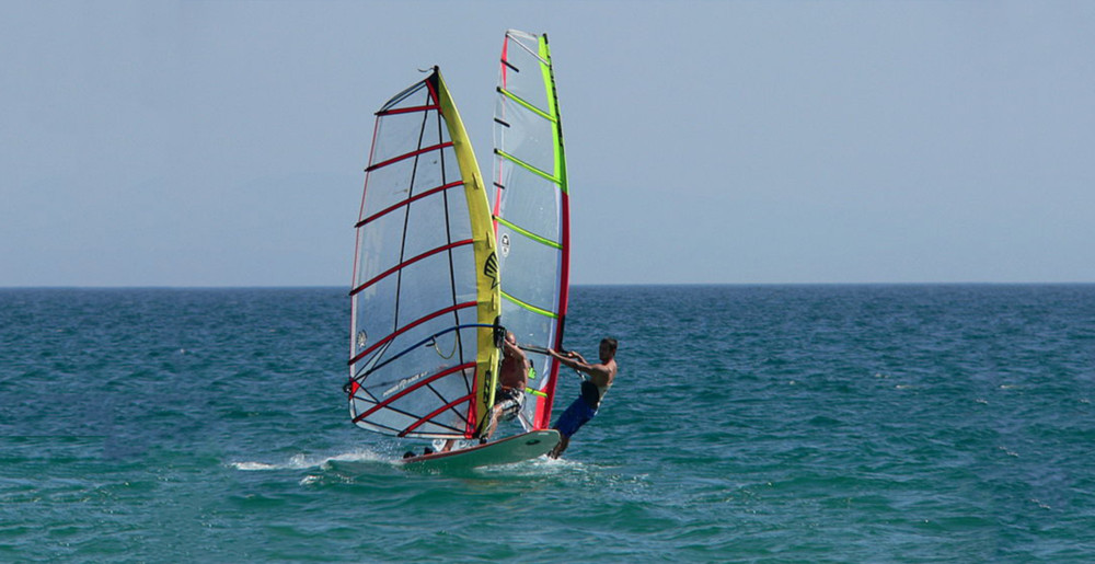 Windsurfing in Watamu, Kenya