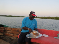 Sunset at Mida Creek with Kenga Keingu my reef guide from Hemingways